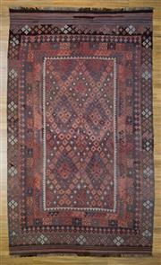 Sale 8566C - Lot 100 - Early C20th Afghan Kilim 389cm x 238cm