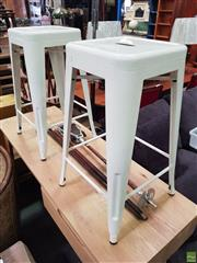 Sale 8637 - Lot 1096 - Pair of Tolix Style Stools