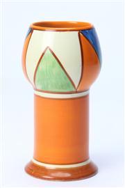 Sale 8670 - Lot 41 - Small Clarice Cliff Bizarre Vase H:15cm