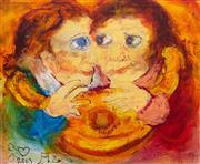 Sale 8787A - Lot 5025 - David Boyd (1924 - 2011) - Together, 2003 37 x 45.5cm
