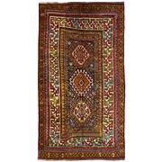 Sale 8830C - Lot 7 - An Antique Caucasian Kazak in Handspun Wool 246x138 cm