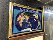 Sale 8895 - Lot 2096 - Gemstone World Map