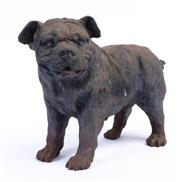 Sale 8960J - Lot 65 - A heavy cast iron bulldog, height 23cm