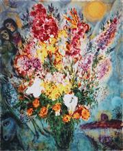 Sale 8985A - Lot 5041 - Marc Chagall (1887 - 1985) - Floral Bouquet 84 x 63.5 cm (frame: 104 x 88 x 4 cm)