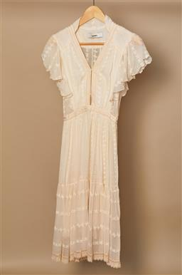 Sale 9093F - Lot 95 - A Lover the label cream lace summer dress size small