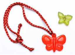 Sale 9156 - Lot 74 - A Dinosaur Designs Butterfly necklace together with another