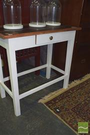 Sale 8390 - Lot 1288 - Timber Occasional Table with Single Drawer