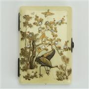 Sale 8393B - Lot 3 - Ivory Shibeyama Card Case