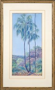 Sale 8415 - Lot 583 - Rex Battarbee (1893 - 1969) - Palm Gorge, Nothern Territory, 1936 55.5 x 27cm