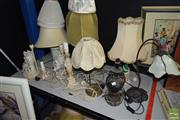 Sale 8518 - Lot 2348 - Group of Lamps & Shades