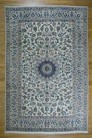 Sale 8625C - Lot 100 - Super Fine Persian Nain Silk Inlaid 350cm x 242cm