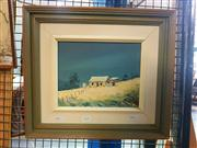 Sale 8663 - Lot 2122 - Thomas Boyd - Lone Cottage in Countryscape, oil on board, 19 x 24cm, signed lower right
