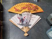 Sale 8834 - Lot 1085 - Pair Of Oriental Paper Fans