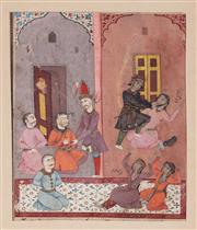 Sale 8994H - Lot 29 - Persian school - court scene, 17th century total sheet size 35 x 23cm