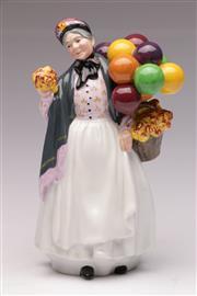 Sale 9078 - Lot 28 - Royal Doulton Biddy Penny Farthing figure (HN1843, H23cm)