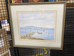 Sale 9147 - Lot 2091A - Sheila Kemmis  Across the Brisbane Water, watercolour 47 x 55 cm