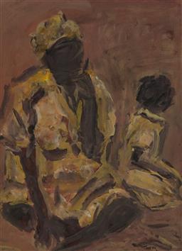 Sale 9161A - Lot 5002 - TONY COSTA (1955 - ) - Mother & Child 73.5 x 53.5 cm (frame: 106 x 86 x 3 cm)