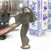 Sale 8362 - Lot 30 - Japanese Bronze Geisha Figure