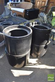 Sale 8390 - Lot 1358 - Set of Four Round Plastic Planters