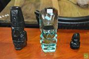 Sale 8440 - Lot 1041 - Set of 3 Glass tribal Figures
