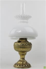 Sale 8586 - Lot 77 - Brass Tiny Juno Lamp With Shade
