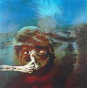 Sale 8896A - Lot 5030 - Sidney Nolan (1917 - 1992) - Miner Smoking 76 x 76 cm