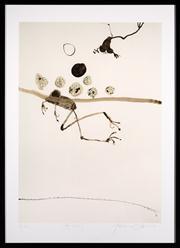 Sale 8630A - Lot 71 - John Olsen (1928 - ) - Frog swimming 71 x 51cm, framed size 88 x 64cm