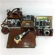 Sale 8645D - Lot 44 - Group Of Vintage Cameras And Items Incl Voigtlander