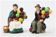Sale 8654 - Lot 8 - Two Royal Doulton Figures The Old Balloon Seller & The Balloon Man