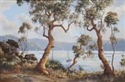 Sale 8692 - Lot 584 - Brian Baigent (1929 - ) - Quiet Day on Cowan Waters 49.5 x 75cm