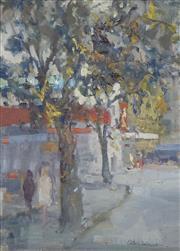 Sale 8722A - Lot 5009 - Allan Hansen (1911 - 2000) - Street Scene 39.5 x 29.5cm