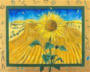 Sale 8787A - Lot 5027 - Anita West - Sunflower, 1999 121.5 x 152.5cm