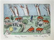 Sale 8939A - Lot 5027 - Peter Kingston (1943 - ) - Tiny Town, 1988 38 x 28.5 cm