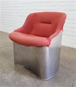 Sale 9151 - Lot 1067 - Metal framed armchair (h:75 x w:57cm)