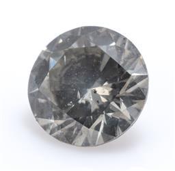 Sale 9169 - Lot 334 - A 0.38CT UNSET ROUND BRILLIANT CUT DIAMOND; grey brown, P1, size 4.70 x 2.73mm.