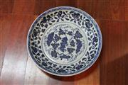Sale 8308 - Lot 75 - Blue and White Ming Style Grapes Charger