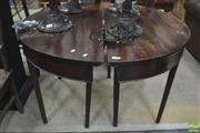 Sale 8310 - Lot 1629 - Pair of George III Mahogany Tables Ends