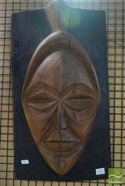 Sale 8530 - Lot 2087 - Wooden African Mask Wall Hanging