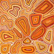 Sale 8593A - Lot 7 - Nellie Nangala Wayne, Warlu Kurlangu Artists - Dot Painting 76 x 76 cm