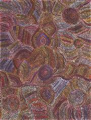 Sale 8652A - Lot 5021 - Joy Pitjara (1962 - ) - Yam Seed Dreaming 94 x 72cm