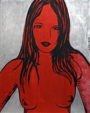 Sale 8652 - Lot 554 - David Bromley (1960 - ) - Untitled (Red Nude) 150 x 120cm