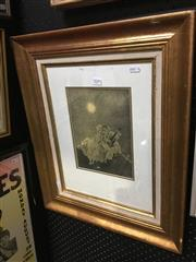 Sale 8695 - Lot 2005 - Norman Lindsay (2 Works): Pair of Framed Decorative Prints, 55 x 45cm (frame size), unsigned