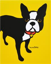 Sale 8781A - Lot 5005 - Marc Tetro - Boston Terrier 48 x 40cm (frame size: 67 x 56cm)