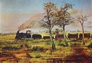 Sale 8821A - Lot 5002 - Arthur Boyd (1920 - 1999) - The Little Train 49.5 x 72.5cm