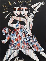 Sale 8880A - Lot 5033 - Yosi Messiah (1964 - ) - Love Dance 102 x 76 cm
