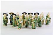 Sale 8926A - Lot 625 - Group of Chinese Porcelain Elder Figures (13), H11cm