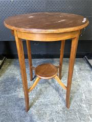 Sale 9034 - Lot 1051 - Maple Round Occasional Table (H: 71 x Dia: 51 cm)