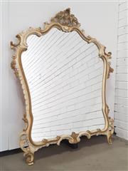 Sale 9071 - Lot 1093 - Large Decorative Ornate Timber Framed Mirror (h:133 x w:109cm)