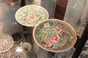 Sale 8308 - Lot 71 - Straits Chinese Green Ground Shallow Bowl