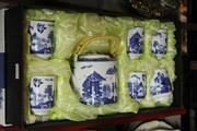 Sale 8351 - Lot 75 - Chinese Blue & White Tea Set